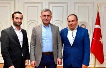 Yeni Metropol Yayın Grubundan den Başkan Hilmi Türkmen'e Ziyaret