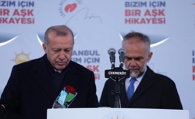 """Cumhurbaşkanı Recep Tayyip Erdoğan'ın Çekmeköy Mitingi, """"Çekmeköy İstanbul'un yükselen yıldızlarından biri"""""""