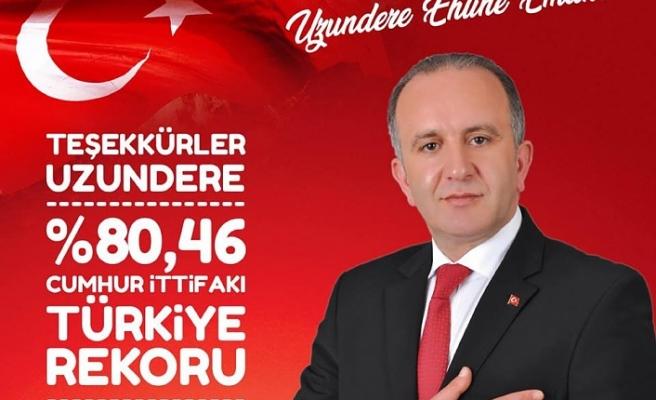 31 Mart Yerel Seçimlerine Erzurum'un Uzundere İlçesi Damga Vurdu