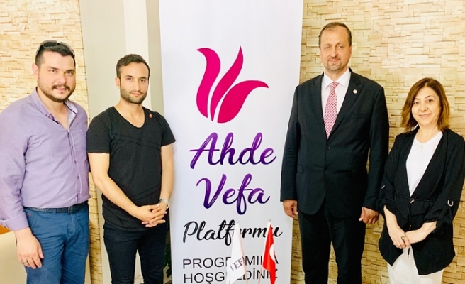 """Ahde Vefa Platformu """"Binali Yıldırım'a Tam Destek"""" Programı düzenledi"""