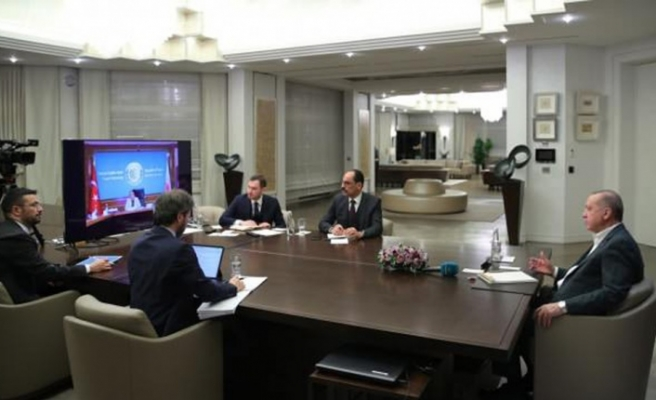 Erdoğan Bakanlarla Telekonferans İle Görüştü