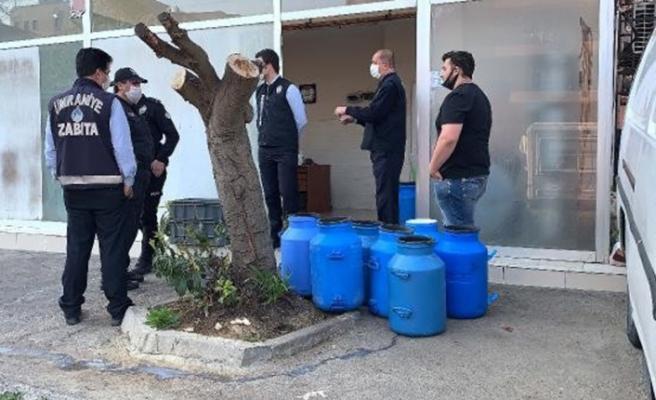 Ümraniye'de mühürlenen süt deposuna 21 bin TL ceza kesildi