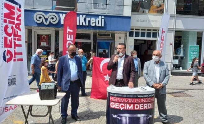 Saadet Partisi Ümraniye İlçe Teşkilatından Geçim İttifakı Basın Açıklaması