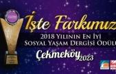 Çekmeköy 2023 Dergisi Yılın En İyi Sosyal Yaşam Dergisi Ödülünü Aldı