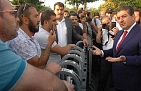 Başkan Göksu İBB önünde eylem yapan işçileri ziyaret etti