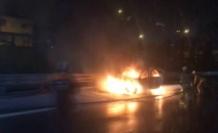 FSM Köprüsü'nde araç yangını