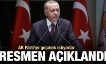 Resmen açıklandı! AK Parti'ye geçmek istiyorlar