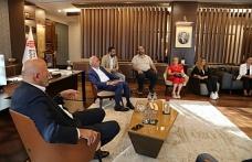 İstanbul Muhtarlar Federasyonu Başkanı Kadir Delibalta ve Yönetiminden Başkan İsmet Yıldırım'a Ziyaret
