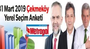 31 Mart 2019 Çekmeköy Yerel Seçim Anketi