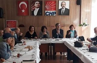 CHP İlçe Örgütü Başkanı Cafer Aktürk Basın...