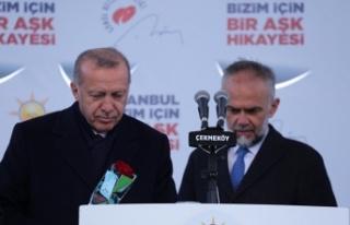 Cumhurbaşkanı Recep Tayyip Erdoğan'ın Çekmeköy...