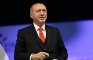 Erdoğan'dan Türk Kızılayı mesajı