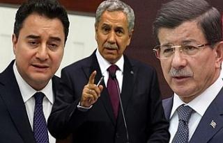 Bülent Arınç'tan Ahmet Davutoğlu ve Ali Babacan'a...