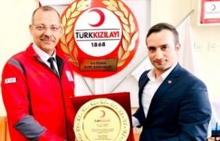 Türk Kızılayı'ndan Taner Akkuş'a teşekkür...