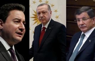 Cumhurbaşkanı Erdoğan'dan Babacan ve Davutoğlu...