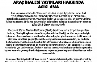 """""""ÇAMUR AT İZİ KALSIN"""" MAKSATLI ARAÇ İHALESİ..."""