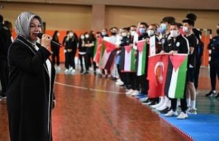 Sancaktepe olimpiyatlara hazırlanan Filistinli sporcuları...