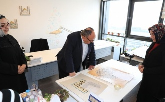 Başkan Hasan Can Ümraniye Belediyesi Geleneksel Sanat Atölyesi'ni Ziyaret Etti