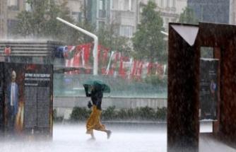 İstanbul'dan sağanak görüntüleri!