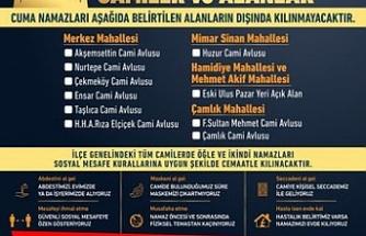 Çekmeköy'de Cuma Namazı ve Vakit Namazı Kılınacak Camilerin Listesi Açıklandı