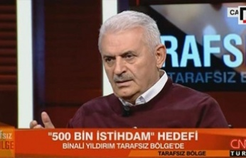 Binali Yıldırım'dan CNN TÜRK canlı yayınında '500 bin istihdam' açıklaması