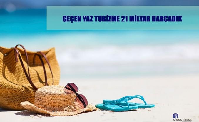 Geçen Yıl Turizm'e 21 Milyar Harcadık