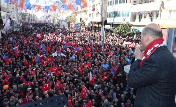 İçişleri Bakanı Süleyman Soylu Ümraniye'de