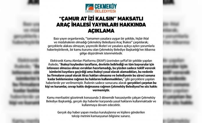 """Çekmeköy Belediyesi'nden """"Çamur At İzi Kalsın"""""""