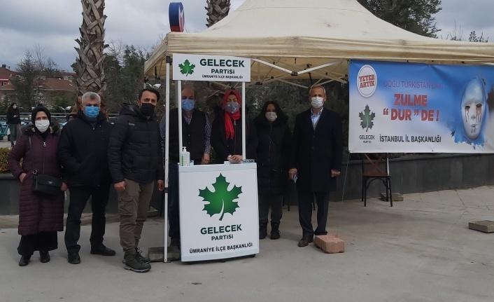 Gelecek Partisi Ümraniye İlçe Başkanlığından Doğu Türkistan Zulmüne Tepki